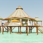 construction bungalow flottant sur pilotis madagascar