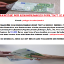 AIDE FINANCIÈRE NON REMBOURSABLES POUR TOUT LE MONDE